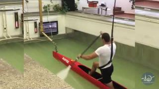 Canoe Sprint pool training with Legends HD
