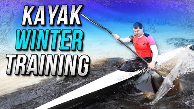 Kayak winter training and snow kayaking