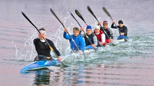 Kayak Six boat - Canoe Sprint training