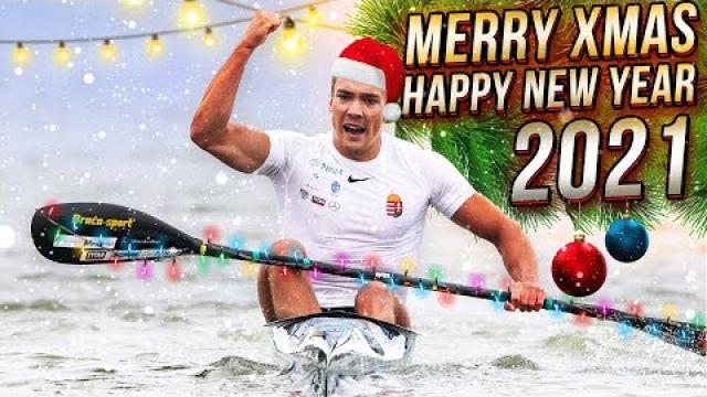 Merry Christmas and Happy New Year Canoe Sport Sprint Slalom Athletes 2021